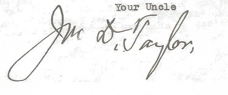 John D. Taylor Signature